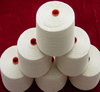 china yarn suppliers, spun polyester material in raw white
