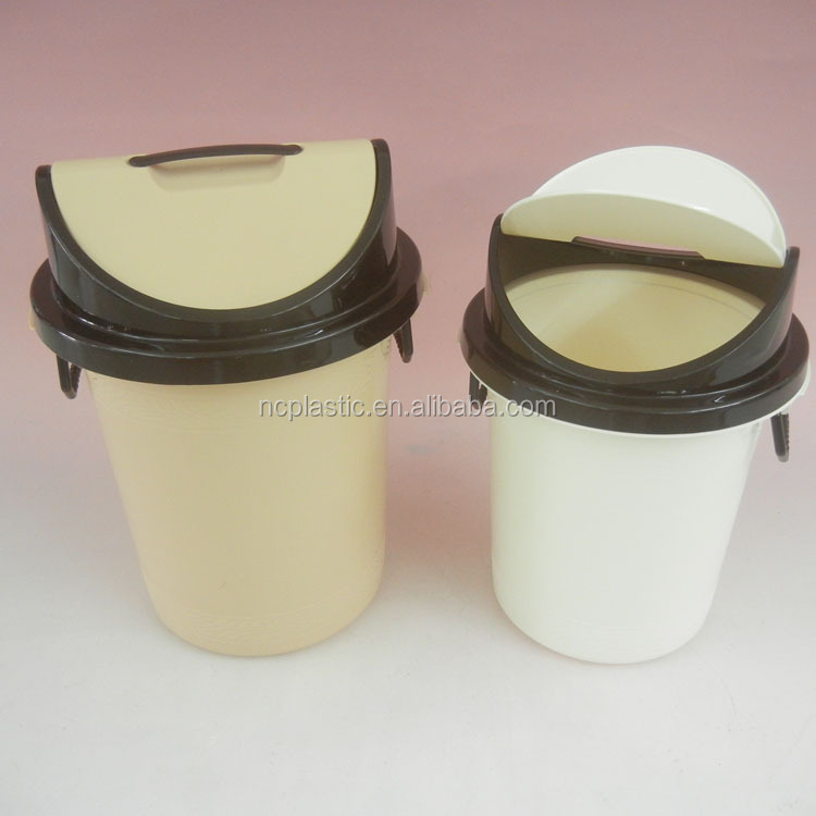 office plastic sanitary dustbin with swing cover