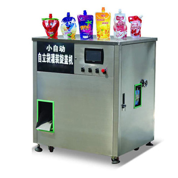 Small Automatic PLC Control Standing Bag Mango Juice Filling Machine