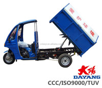 Hot sale cheap price semi-closed body three wheeler hydraulic garbage motocicleta for sale in Kenya