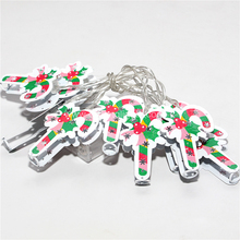 metal walking stick decoration christmas lights LED Battery Powered String lights
