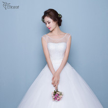 Minzart WD-DB0300 Hot sale Bridal changing dresses sequin dress beautiful lace cathedral/ royal train wedding dresses