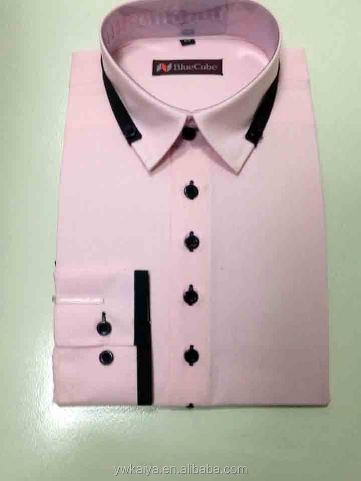 2014 Long Sleeve Royal Pink Branded Korean Style Latest Shirt ...