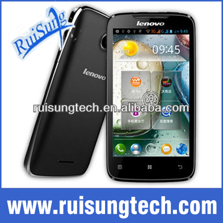 Original Lenovo A390 4.0 inch mtk6577 dual core 3G Android 4.0 black phone 512MB+4GB 5MP dual sim card cell phone