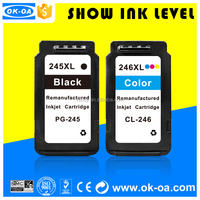durable and compatible for canon ink cartridge 245 246 for Pixma Mg2420/Mg2520/Ip2820