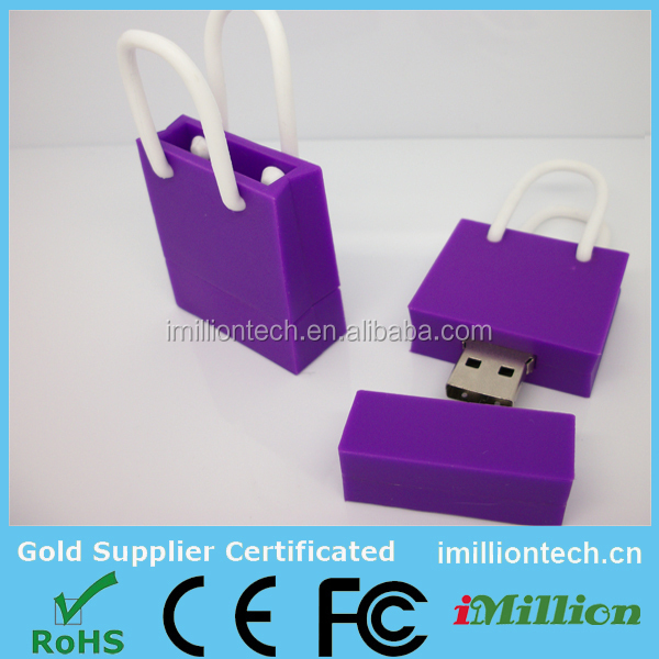 4gb customized usb shopper shape