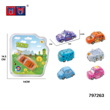 Hot sale 1:64 cartoon alloy toy sliding car free wheel diecast model car for children