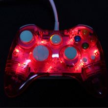 Bluetooth Transparent Led Light Wireless Controller for Microsoft Xbox 360
