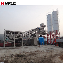 50m3/h-100 m3/h Mobile Concrete Batching Mixing Plant with good price