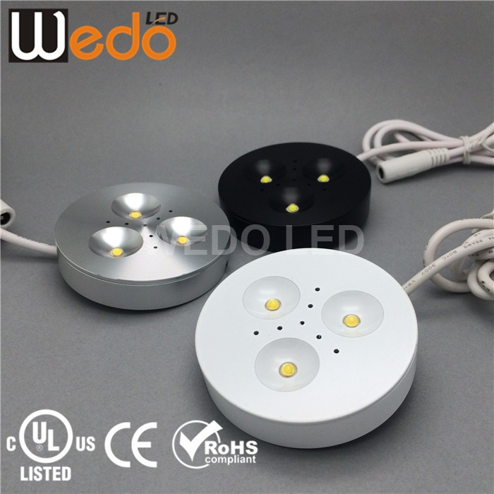 12V high lumen led puck light UL
