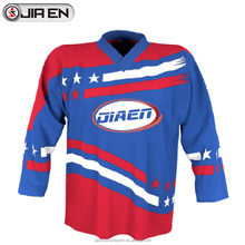 Heavy hockey jersey fabric custom team sweden sublimated ice hockey jerseys