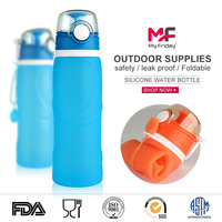 Multifunction non-toxic flexible bpa free silicone mini shaker water bottle