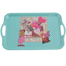 print with retro design large plastic melamine serving trays