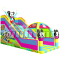 children favorite cartoon characters dry inflatable slide with tent