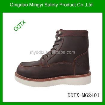Comfortable with steel toe goodyear welt safety shoes