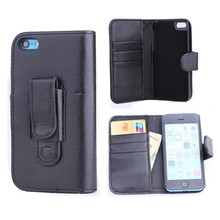 Case For iphone 5C, for iPhone 5C Litchi Pattern Leather Wallet Case PC Cover with clip