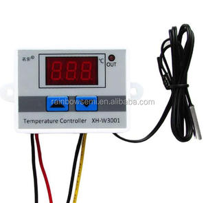 Thermostat 12V /24V / 220V XH-W3001 Digital Temperature Controller W3001 Cooling Heating Switch Thermostat + NTC Sensor
