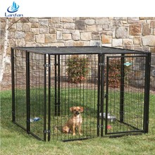 Professional factory wholesale welded wire mesh heated hand made galvanized steel dog kennel