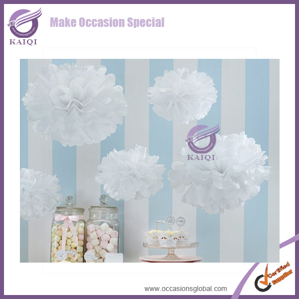 k7107-12 Decorative christmas nice paper pom poms Color Large Paper Flower for sale