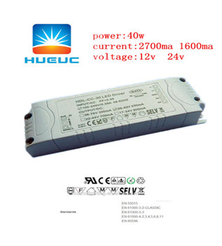 40w high quality 24v 0-10v dimming power ac adapter