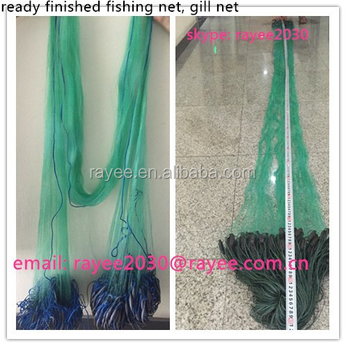 Finland fishing nets with floats and leads 0.15mmx40mmsqx2mx90m , harga jaring gillnet