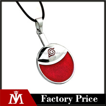 Fashion Red Anime Naruto Konoha Magatama Long Statement Chain Necklace &Pendant Gift Men Jewelry Accessories