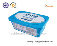 nonwoven medical isopropyl alcohol cleansing custom wet wipes in plastic box