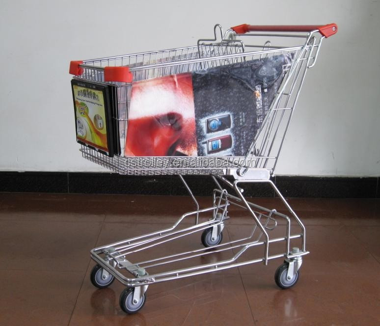 Trolley Side Advertising Holder, shopping trolley frame on the side part