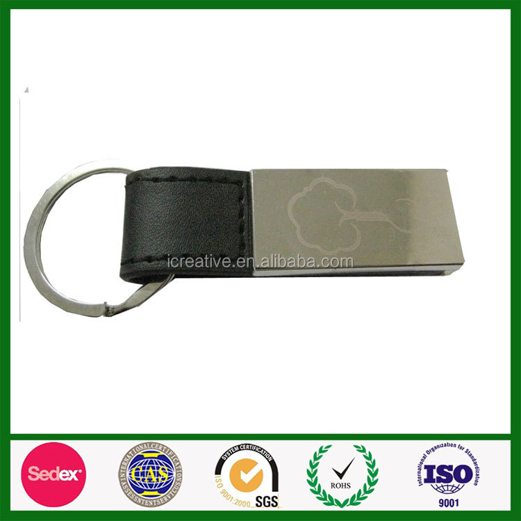 Promotional custom blank iron made metal keychains