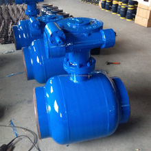 Gear operated trunnion ball valve/all welded trunnion mounted ball valve /reduced bore ball valve crane