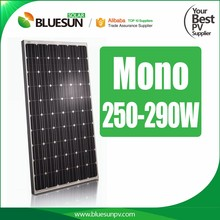 Bluesun good price per watt monocrystalline silicon solar panel 260w 270w