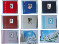 customized leather paper cloth scrapbook album