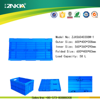 Plastic foldable box storage container for restaurant