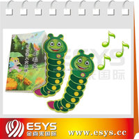 Children educational electronic sound books with custom push button sound effects
