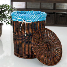 The diverse cloth linings with lid dirty clothes storage basket