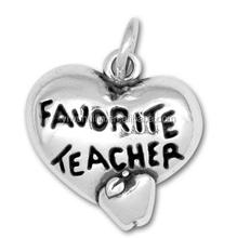 H100919 Yiwu Huilin jewelry Favorite Teacher Charms Antique tibetan silver Heart charm pendants Teacher's day gifts