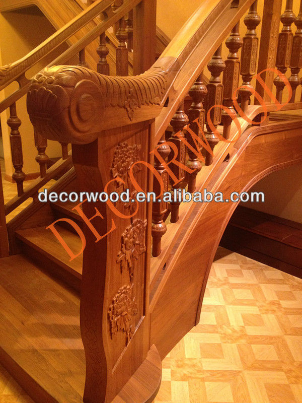 acacia staircase carved wooden posts