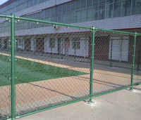 PVC coated 9 gauge chain link outdoor playground fence