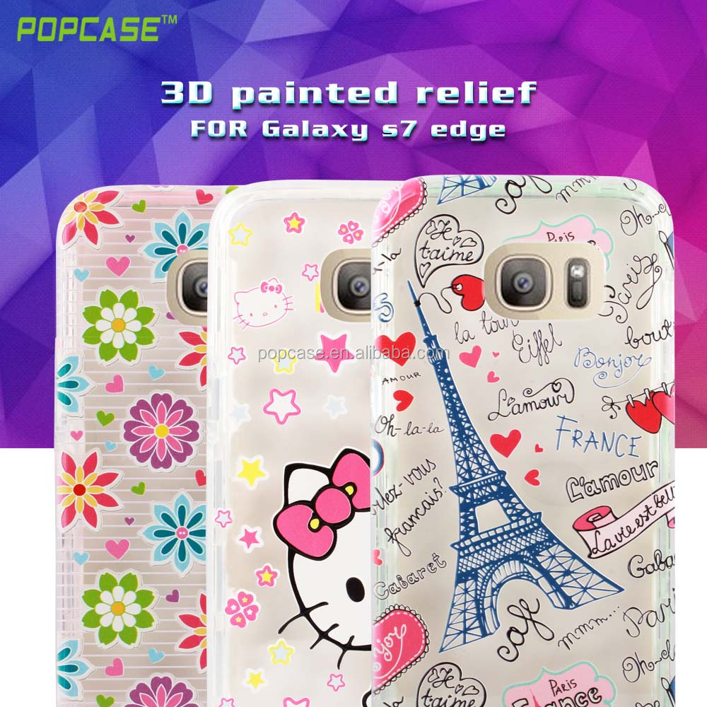 Free Sample custom printed PC and TPU Phone Case For Samsung S7 edge