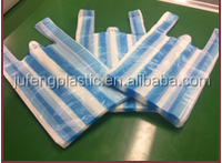for fruit supermarket shopping stripe candy bag foldable blue and white color