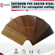wood pattern PPGI pvc coated steel sheet/coil corrugated roofing