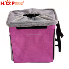 Factory outdoor collapsible pet backpack bike sports cat carrier basket pet bicycle front dog carrier