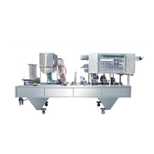 high quality full automatic preformed cup liquid filling and sealing machine for beverage milk yogurt plant