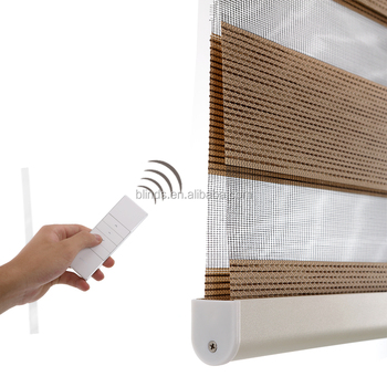 Factory Ready Made Favorable Window Motorized Zebra Roller Blind, Electric Motor Zebra Blind Shade Curtain