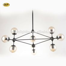 Hot sale light up dining table modern cone glass pendant light