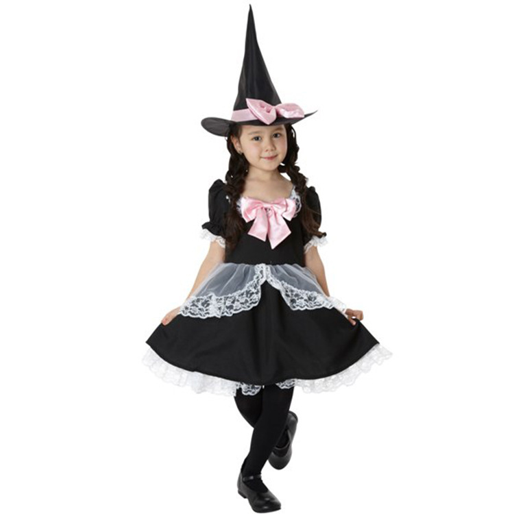 2017 Halloween Child Witch Dress Girls Skirt Set cosplay RPG clothing