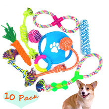 brand new popular worlds most durable chew 10 pack pet toys for puppies to play
