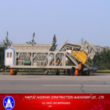 YHZS 50 Mobile Concrete Batching Plant With CE,GOST Certificates