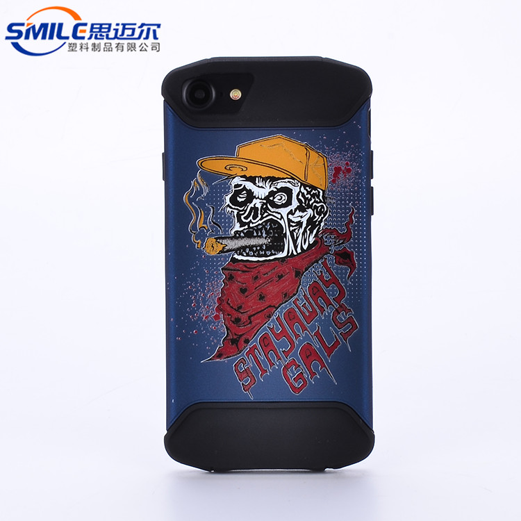High quality mobile phone shell,sublimation 2d tpu pc phone case,pc +tpu protective phone case for apple for iphone8 plus