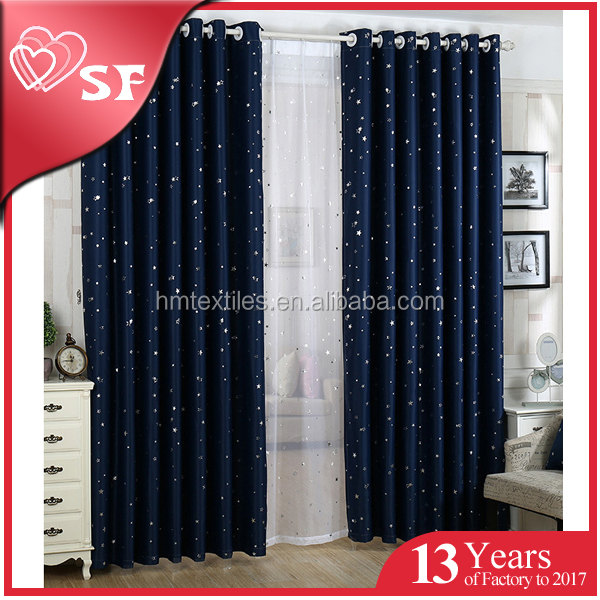 Wholesale high-grade hotel blackout fireproofing coating fabric curtain for window curtains